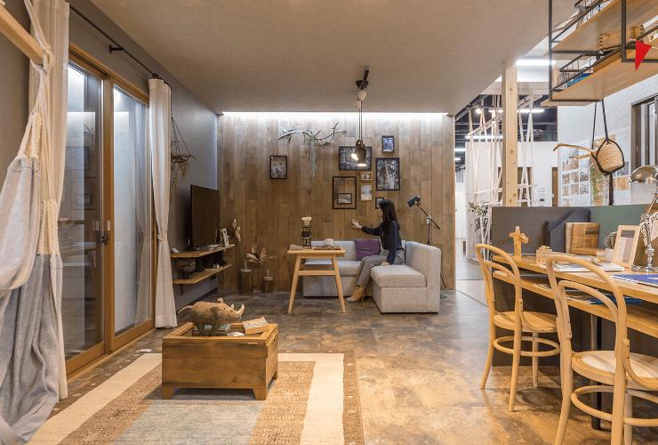 木材を使った空間展示コーナー